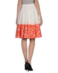 Blumarine - White Knee Length Skirt - Lyst