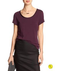 Banana Republic | Purple Factory Luxe-touch Tee | Lyst