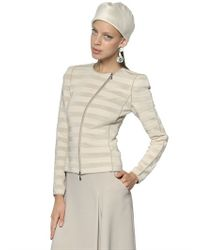 Giorgio Armani | Natural Viscose Knit Jacket | Lyst