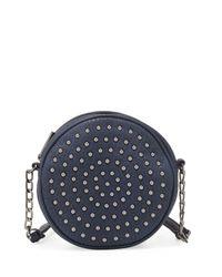 Neiman Marcus | Gray Studded Canteen Crossbody Bag | Lyst