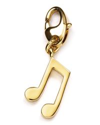 kate spade new york | Metallic Music Note Charm | Lyst