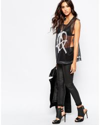 Aka | Black Graphic Print Vest | Lyst