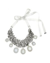 By Malene Birger - Natural Olias Crystalembellished Stone Necklace - Lyst