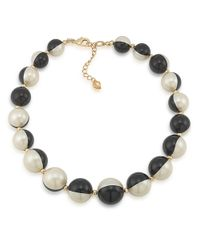 Carolee | Black Optical Opposites Bead Necklace | Lyst