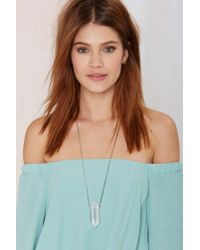 Nasty Gal - Metallic Magic Maven Crystal Necklace - Lyst