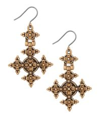 Lucky Brand | Metallic Modern Shine Cross Earrings | Lyst