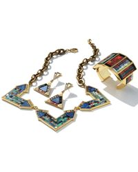 Lulu Frost | Blue Petra Triangle Mosaic Drop Earrings | Lyst