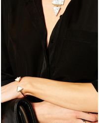 ASOS | Metallic Open Triangle Cuff Bracelet | Lyst