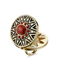 House of Harlow 1960 | Orange Ring With Coral Cabochon | Lyst