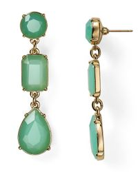 kate spade new york | Green Riviera Garden Linear Earrings | Lyst