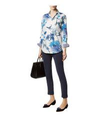 Etro | Blue Tropical Print Boyfriend Shirt | Lyst