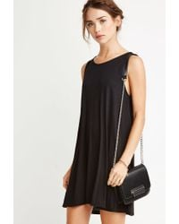 Forever 21 - Black Trapeze Tank Dress You've Been Added To The Waitlist - Lyst