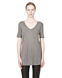 Alexander Wang - Gray Classic Tee With Pocket - Lyst
