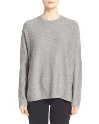 VINCE | Gray 'easy Fit' Crewneck Sweater | Lyst