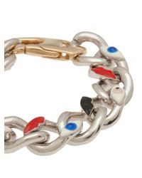 Delfina Delettrez - Metallic Evil Eye Chain Bracelet - Lyst