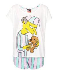 TOPSHOP - Purple Mr Burns Pyjama Set - Lyst