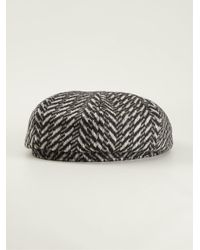 Paul Smith - Gray Herringbone Gatsby Hat for Men - Lyst