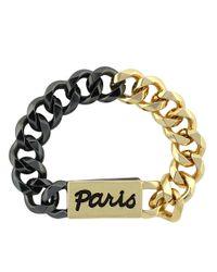 BCBGeneration - Metallic Twotone Paris Chain Bracelet - Lyst