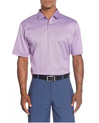 Peter Millar | Purple Rodeo Stripe Egyptian Cotton Lisle Polo for Men | Lyst