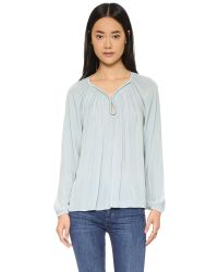 Ramy Brook - Metallic Valentina Long Sleeve Top - Lyst