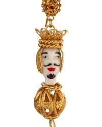 Dolce & Gabbana   Metallic Marionette Ornate Drop Earrings   Lyst