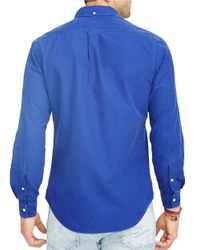 Polo Ralph Lauren | Blue Oxford Cotton Shirt for Men | Lyst