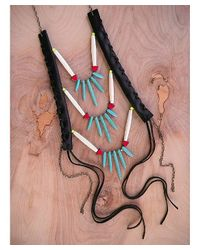 Love Leather | Multicolor Point It Out Necklace | Lyst