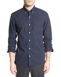 Bonobos | Blue 'burlington Cross' Slim Fit Houndstooth Sport Shirt for Men | Lyst