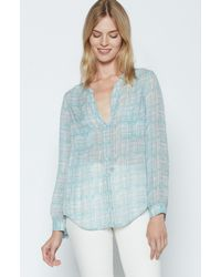 Joie | Blue Bonilla Silk Top | Lyst