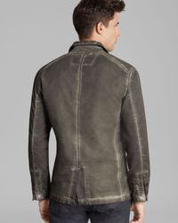 John Varvatos - Gray Usa Denim Officer Blazer for Men - Lyst