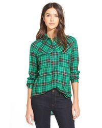 Ace Delivery | Green Plaid Shirt | Lyst