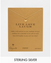 Dogeared | Metallic Gold Plated Live Love Laugh Reminder Necklace | Lyst