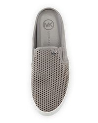 MICHAEL Michael Kors | Gray Brett Leather Slip-On Mules | Lyst