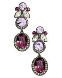 Givenchy - Purple Jeweled Drop Earrings - Hematite/ Amethyst Mix - Lyst