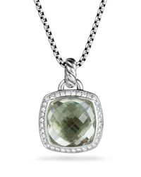 David Yurman | Green Albion Pendant With Prasiolite And Diamonds | Lyst