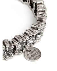 Philippe Audibert - Metallic New Amelia Bead And Crystal Embellished Elasticated Bracelet - Lyst
