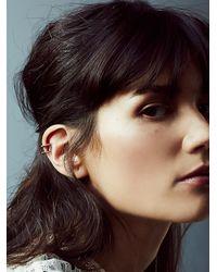 Free People | Metallic Luv Aj Womens Double Barbell Ear Cuff | Lyst