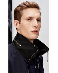 HUGO - Blue Regular Fit Cotton Jacket: 'agidius' for Men - Lyst