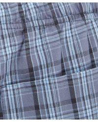 Derek Rose - Blue Charcoal Checked Pyjama Trousers - Lyst