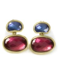 Vaubel | Red Oval Stone Earrings | Lyst