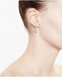 Yvonne Léon - Metallic 18k Gold And Diamond Chain Earring - Lyst