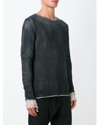 Avant Toi - Black Crew Neck Sweater for Men - Lyst