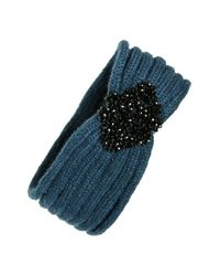BCBGMAXAZRIA | Blue 'shine Bright' Head Wrap | Lyst