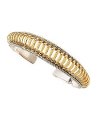 Lagos - Metallic Interlude Hinged Bangle - Lyst
