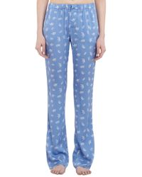 Piamita | Blue Crownprint Nan Pajama Pants | Lyst