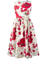 Dolce & Gabbana | White Butterfly-print Cotton Dress | Lyst