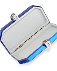 Judith Leiber Couture - Blue Faceted Box Clutch Bag - Lyst