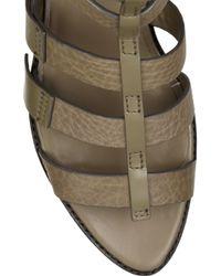 Alexander Wang | Green Saskia Leather Gladiator Sandals | Lyst