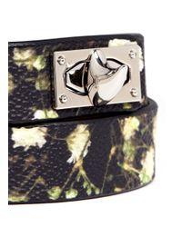 Givenchy - Multicolor Baby'S Breath Floral Print Double Wrap Bracelet - Lyst