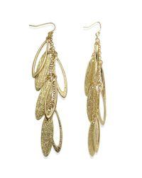 Guess - Metallic Earrings Goldtone Cascade Teardrop Earrings - Lyst
